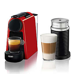Nespresso® by Delonghi Essenza Mini Espresso Machine with Aeroccino in Red