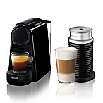 Nespresso® by Delonghi Essenza Mini Espresso Machine with Aeroccino in Black