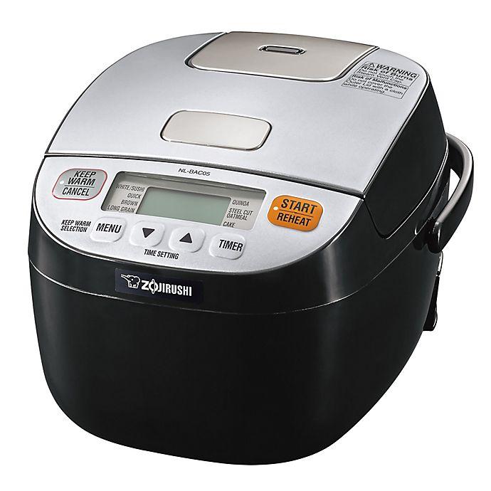 Alternate image 1 for Zojirushi Micom 3-Cup Rice Cooker & Warmer in Silver/Black