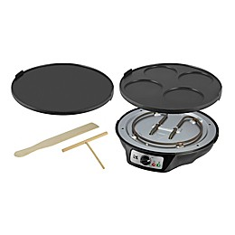 Kalorik 2-in-1 Crepe and Pancake Maker in Black