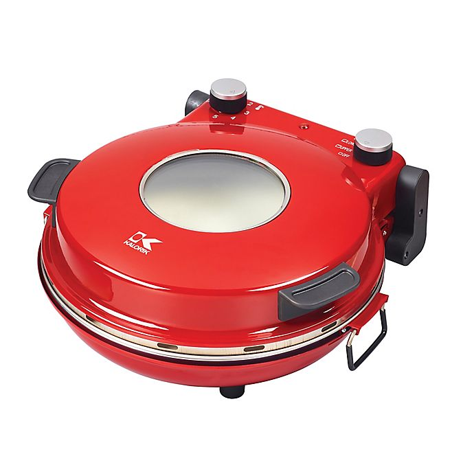 Alternate image 1 for Kalorik High-Heat Stone Pizza Oven in Red