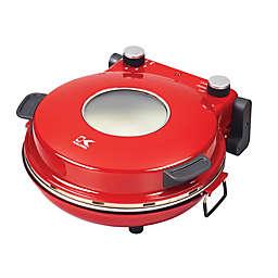 Kalorik High-Heat Stone Pizza Oven in Red