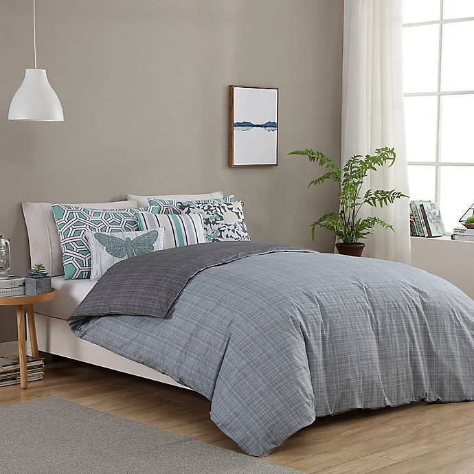 Alternate image 1 for Seedling by ThomasPaul® Synthesize 5-Piece Reversible Twin Duvet Cover Set in Grey