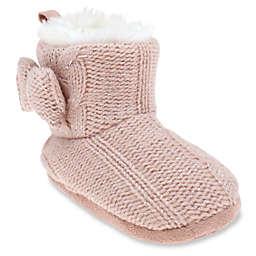 Capelli New York Metallic Knit Slipper Boot in Dusty Pink