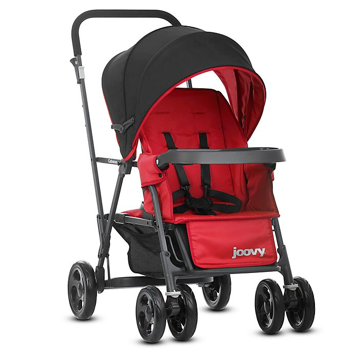Alternate image 1 for Joovy® Caboose Graphite Stand-On Tandem Stroller in Red