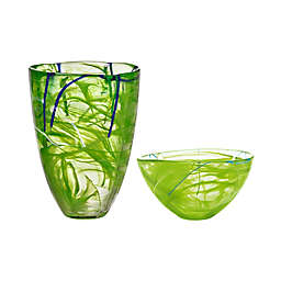 Kosta Boda Contrast by Anna Ehrner Collection in Lime