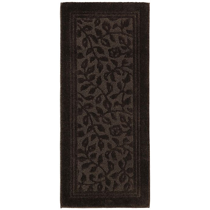 Alternate image 1 for Mohawk Home Wellington 2-Foot x 5-Foot Bath Rug in Chocolate