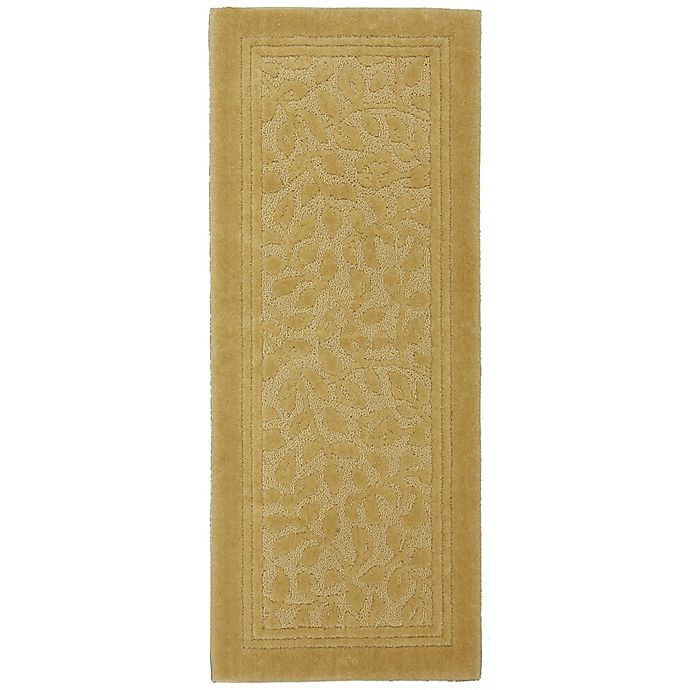 Alternate image 1 for Mohawk Home Wellington 2-Foot x 5-Foot Bath Rug in Gold