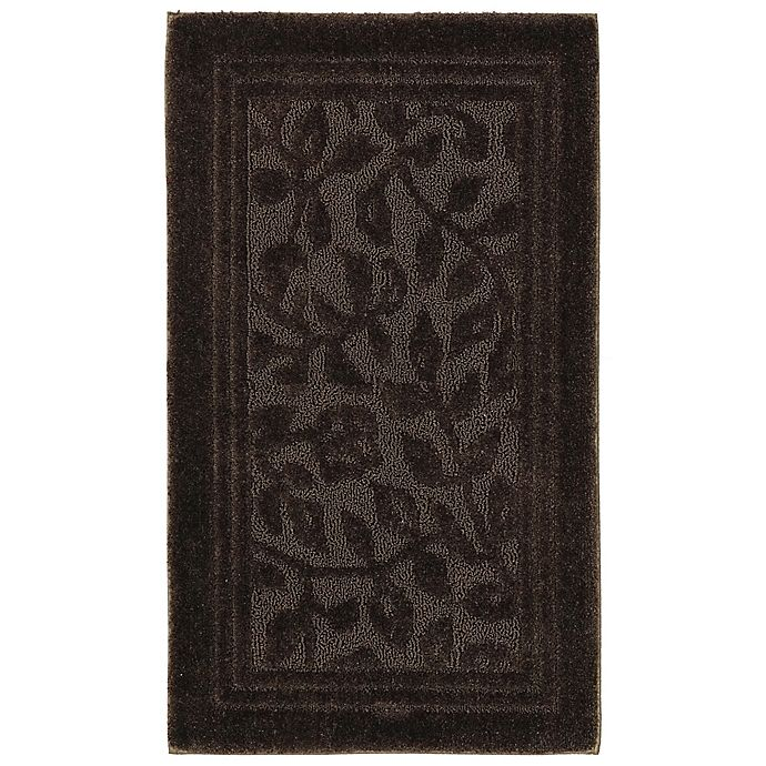 Alternate image 1 for Mohawk Home Wellington 2-Foot 6-Inch x 4-Foot 2-Inch Bath Rug in Chocolate