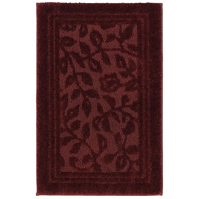 Alternate image 1 for Mohawk Home Wellington 2-Foot 6-Inch x 4-Foot 2-Inch Bath Rug in Red