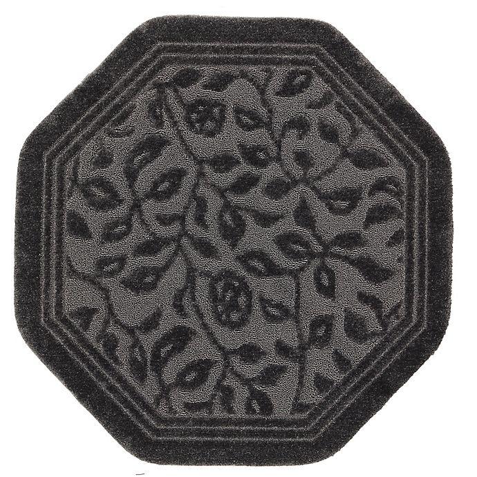 Alternate image 1 for Mohawk Home Wellington 4-Foot x 4-Foot Octagonal Bath Rug in Grey