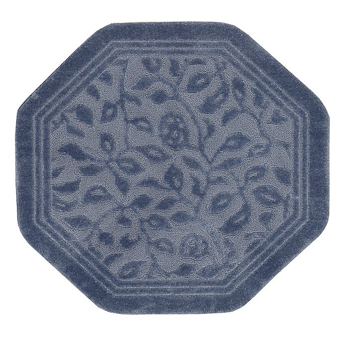Alternate image 1 for Mohawk Home Wellington 4-Foot x 4-Foot Octagonal Bath Rug in Blue