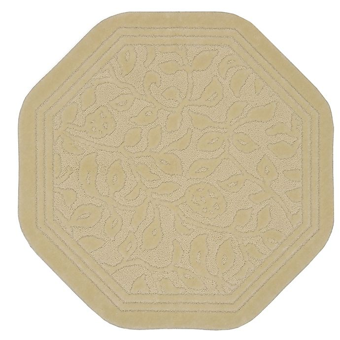 Alternate image 1 for Mohawk Home Wellington 4-Foot x 4-Foot Octagonal Bath Rug in Ivory