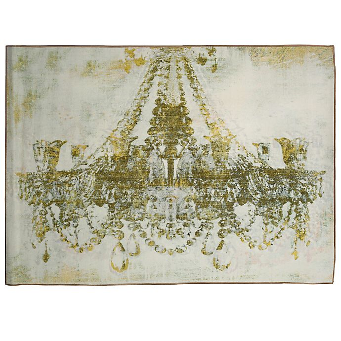 Alternate image 1 for Oliver Gal Home Gold Diamonds 5-Foot x 8-Foot Area Rug in White/Gold