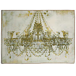 Oliver Gal Home Gold Diamonds 5-Foot x 8-Foot Area Rug in White/Gold