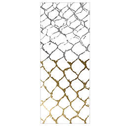 Oliver Gal Home Organic Net 3-Foot x 8-Foot Runner in Silver/Gold