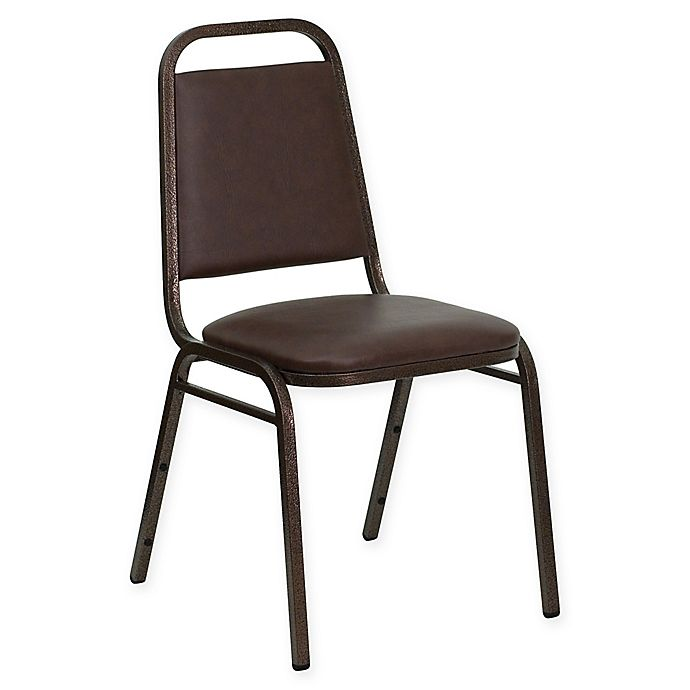 Alternate image 1 for Flash Furniture Hercules 34-Inch Tall Banquet Chair in Brown Vinyl