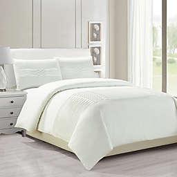 Kensie Geonna Full/Queen Duvet Cover Set in White