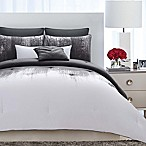 Vince Camuto® Lyon King Comforter Set in Grey/White