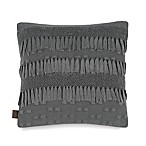 UGG® Karlie Fringe Knit Square Throw Pillow in Charcoal