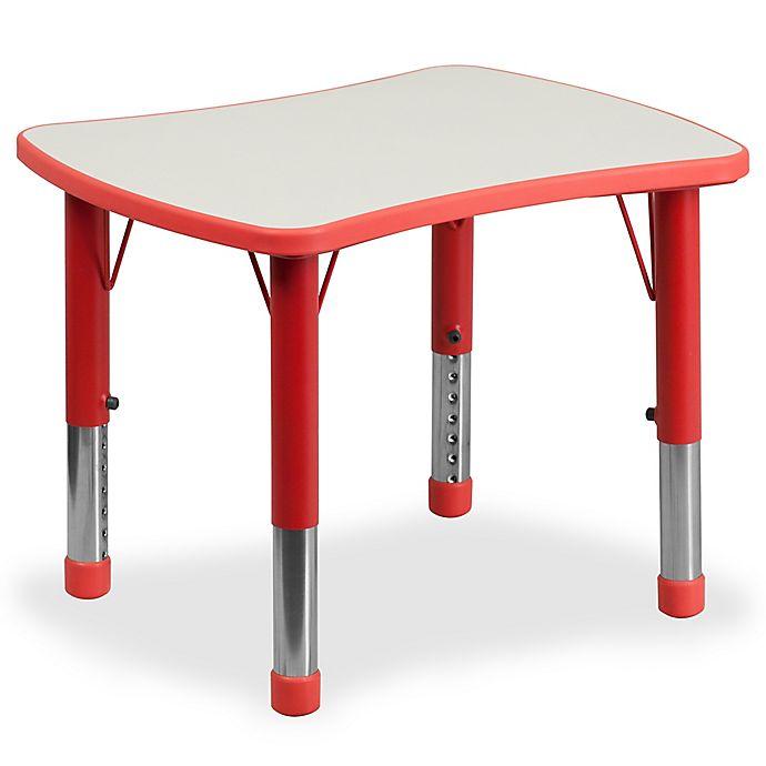 Alternate image 1 for Flash Furniture Rectangular Height Adjustable Activity Table