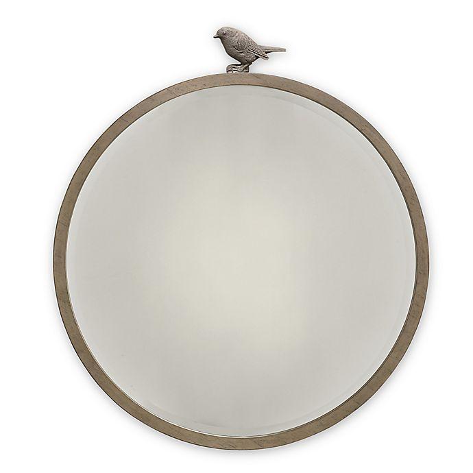 Alternate image 1 for ED Ellen DeGeneres Forest Animal Beveled Round Mirror in Natural Grey
