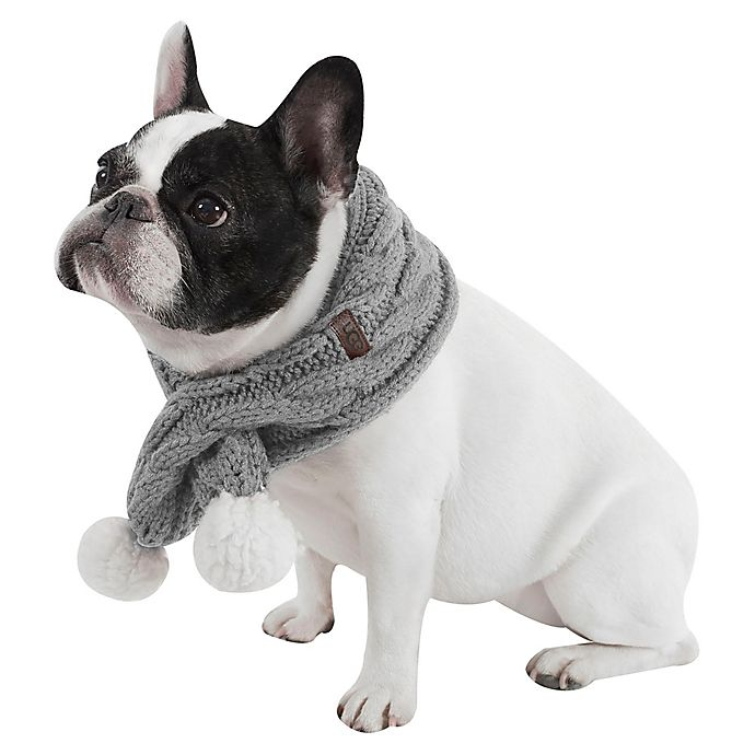 c241c99e6 UGG® Pet Cable Knit Scarf with Pom-Poms | Bed Bath & Beyond