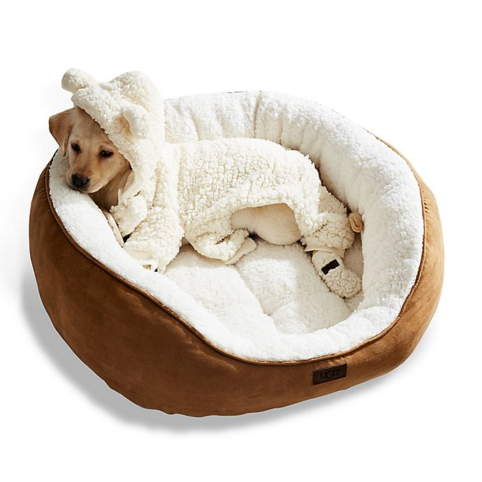 Alternate image 1 for UGG® Classic Sherpa Pet Bed in Chestnut