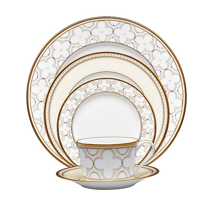 Alternate image 1 for Noritake® Trefolio Gold Dinnerware Collection