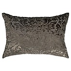 Wamsutta® Vintage Velvet Damask Oblong Throw Pillow in Charcoal