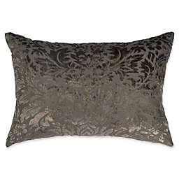 Wamsutta® Vintage Velvet Damask Oblong Throw Pillow in Charcoal