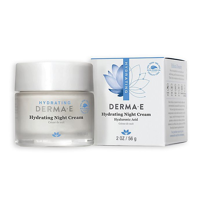 Alternate image 1 for Derma E 2 oz. Hydrating Night Crème with Hyaluronic Acid for Dry/Normal Skin