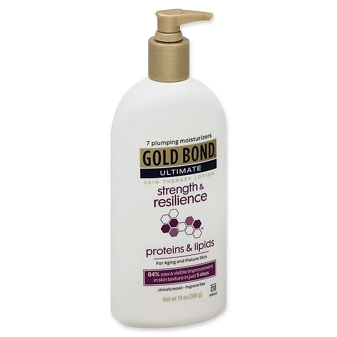 Alternate image 1 for Gold Bond® Ultimate 13 oz. Strength & Resilience Fragrance Free Skin Therapy Lotion
