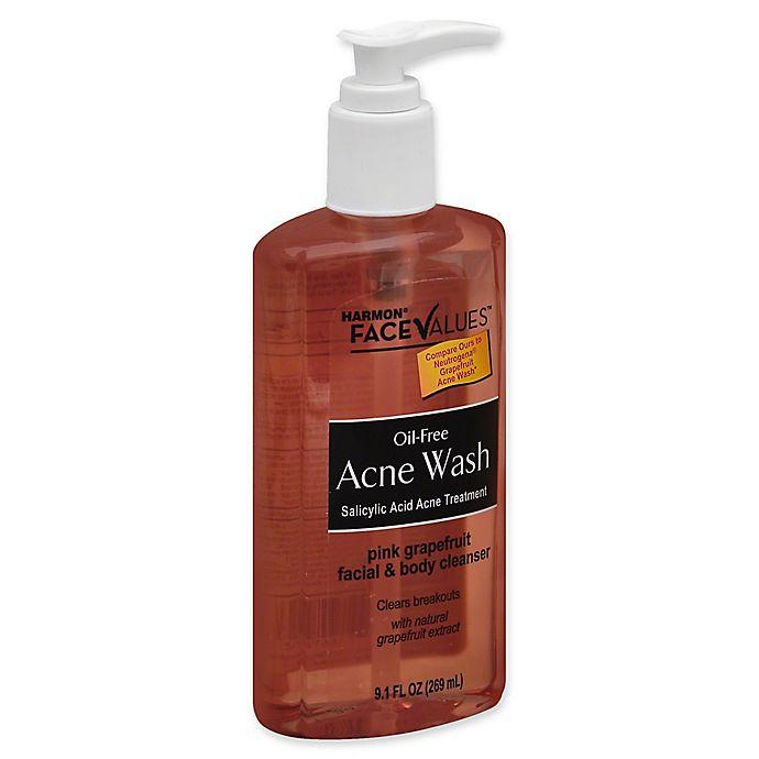 Alternate image 1 for Harmon® Face Values® 9.1 fl. oz. Oil-Free Pink Grapefruit Acne Wash