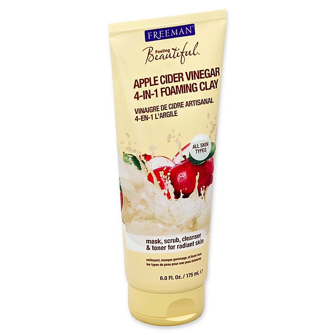 Alternate image 1 for Freeman® Feeling Beautiful 6 fl. oz. 4-in-1 Apple Cider Vinegar Foaming Clay Mask