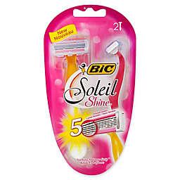 Bic® Soleil® Shine™ 2-Count 5-Blade Razor