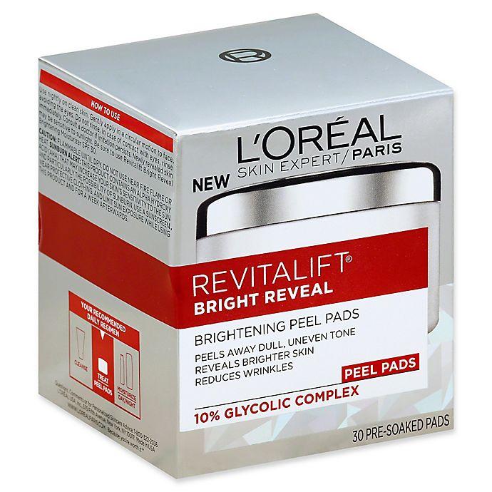 Alternate image 1 for L'Oréal® Revitalift® Bright Reveal 30-Count Brightening Peel Pads
