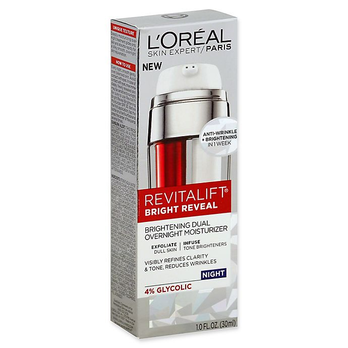 Alternate image 1 for L'Oréal® Revitalift® Bright Reveal 1 fl. oz. Brightening Dual Overnight Moisturizer