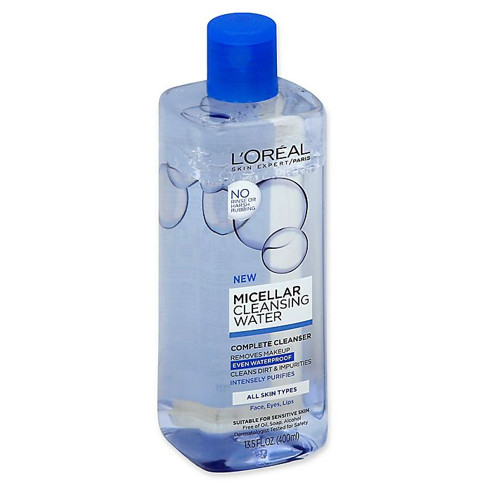 Alternate image 1 for L'Oréal® 13.5 fl. oz. Waterproof Micellar Cleansing Water for All Skin Types