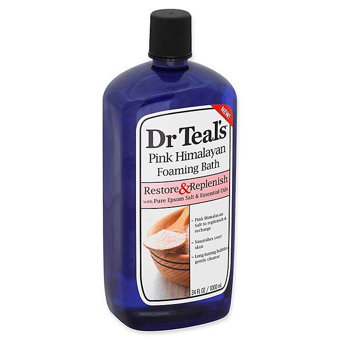 Alternate image 1 for Dr. Teal's® 34 fl. oz. Pink Himalayan Foaming Bath