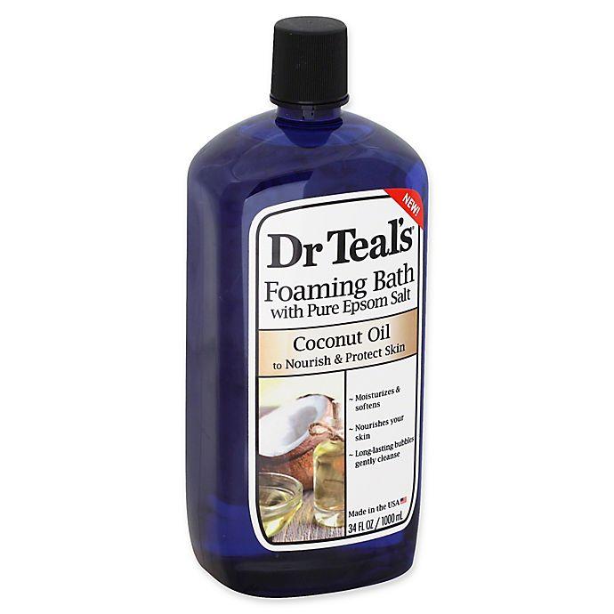 Alternate image 1 for Dr. Teal's® 34 fl. oz. Coconut Oil Foaming Bath with Pure Epsom Salt