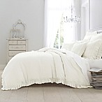 Wamsutta® Vintage Washed Linen King Duvet Cover in Winter White