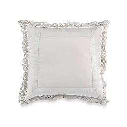 Wamsutta® Vintage Gauze Double Ruffle Square Throw Pillow in Tea Green
