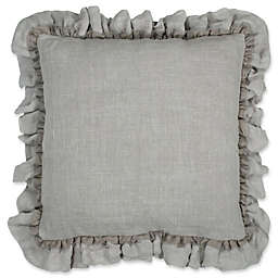 Wamsutta® Vintage Gauze Double Ruffle Square Throw Pillow in Charcoal
