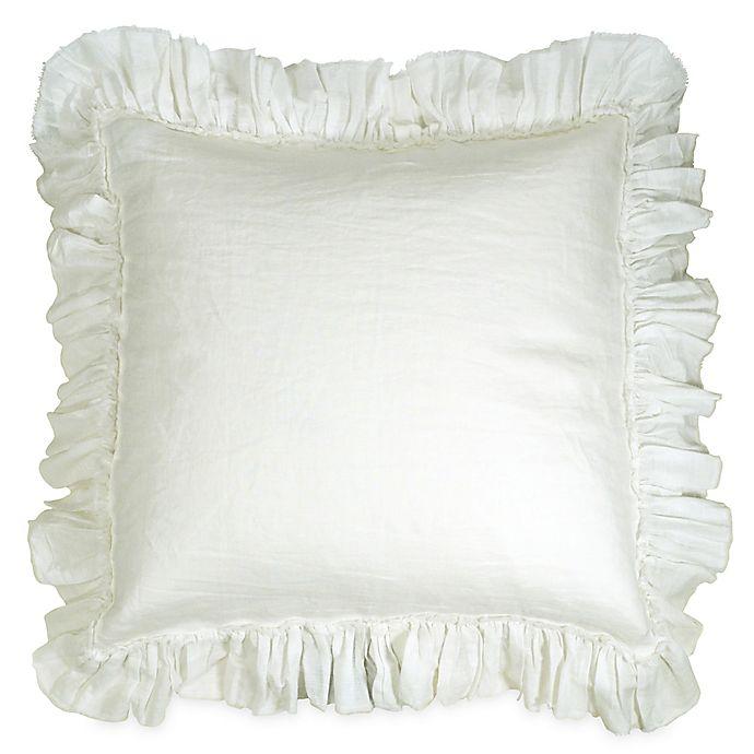 Wamsutta 174 Vintage Washed Linen European Pillow Sham Bed