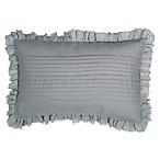 Wamsutta® Vintage Velvet Damask Oblong Throw Pillow in Tea Green
