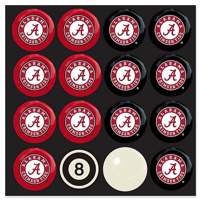 Alternate image 1 for University of Alabama Home vs. Away Billiard Ball Set