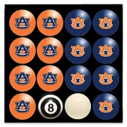 Auburn University Home vs. Away Billiard Ball Set