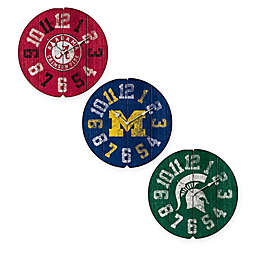 Collegiate Vintage Wall Clock Collection