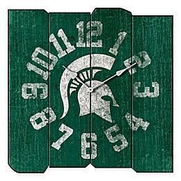 Michigan State University Vintage Square Wall Clock
